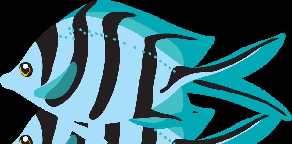 Exotic fish clipart.