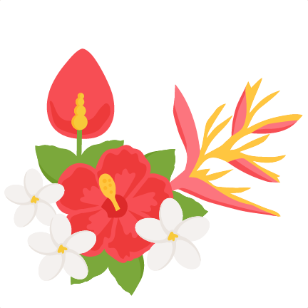 Exotic flower clipart.