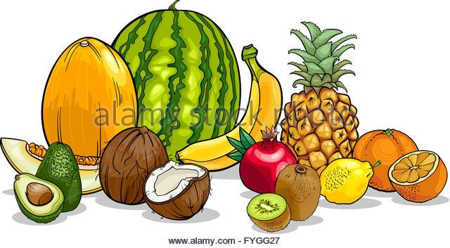 Cartoon Sweet Pineapple Tropical Fruit Stock Photos & Cartoon.