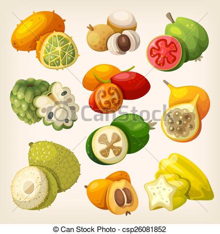 Tropical fruit Stock Illustrations. 25,695 Tropical fruit clip art.