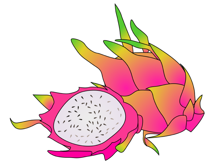 Exotic fruits clipart.