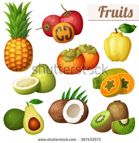 Exotic Fruit Stock Photos, Royalty.