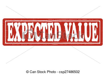 Vector Clipart of Expected value.