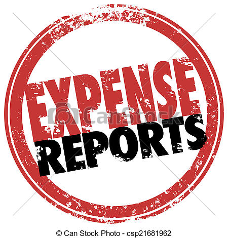 Expense report clipart.