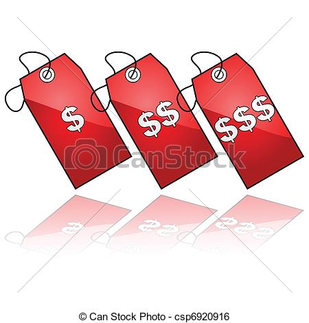 Clip Art Vector of Price tags.
