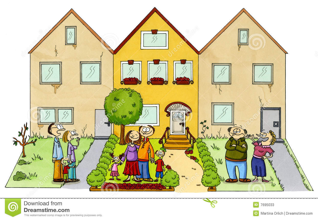 Happy Neighbors Clipart.