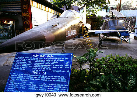 Stock Photography of War museum exhibits Ho Chi Minh City.