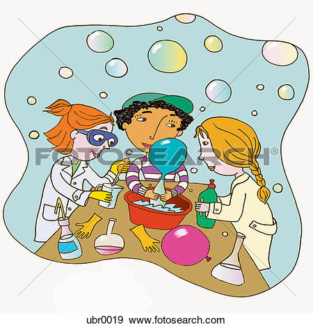 Stock Illustration of science experiment ubr0019.