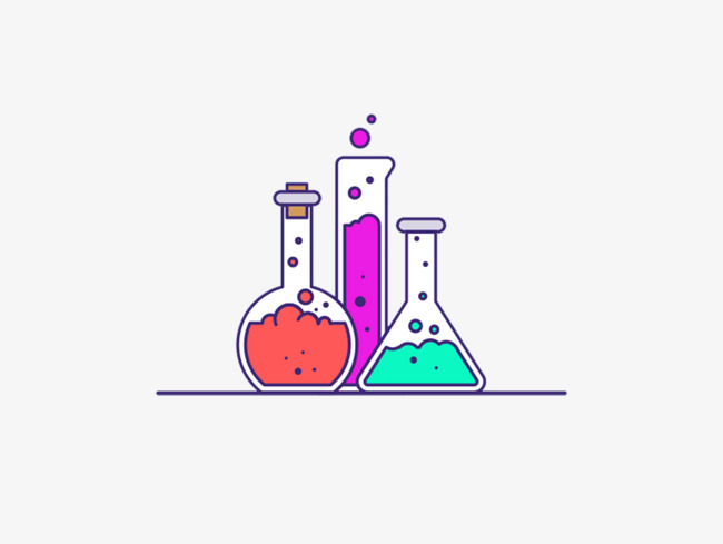 Chemical Products Illustration Material Science Experiments.