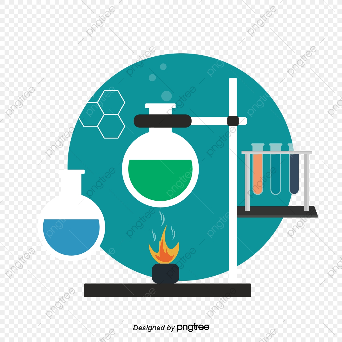 Flat Chemical Flask Experiment, Instrument, Chemistry, Chemical.