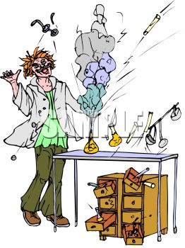 Science experiment gone wrong clipart.