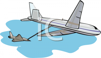Royalty Free Clipart Image: Small Plane Re.