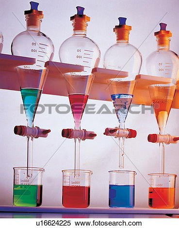 Stock Image of chemical, experiment, glass, laboratory equipment.