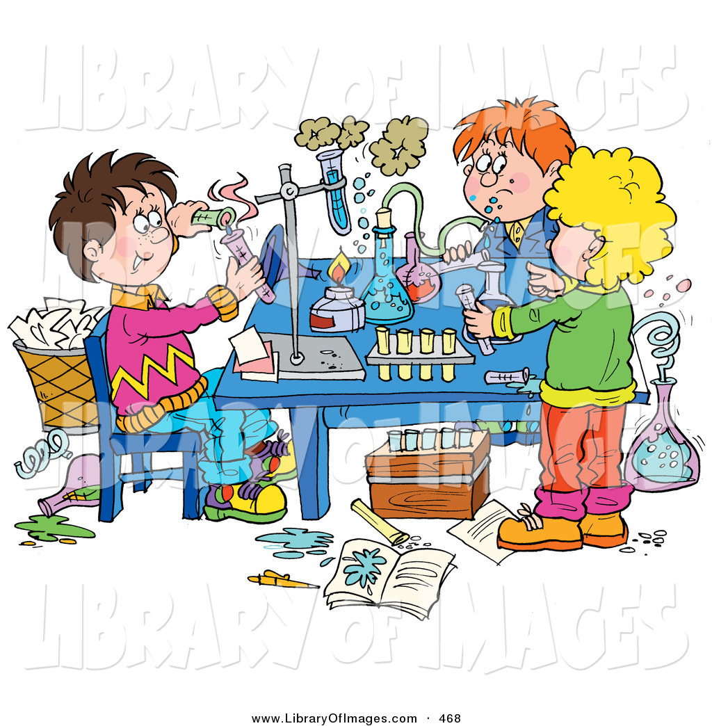 Science experiments clipart.