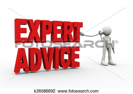 Clip Art of 3d man listening expert advice k26586692.
