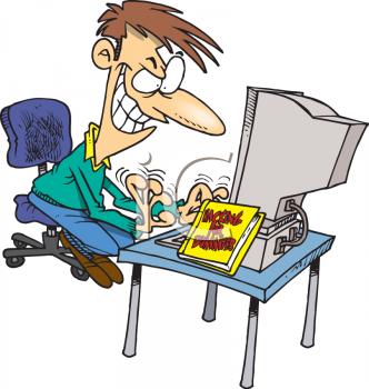 Computer expert clipart.