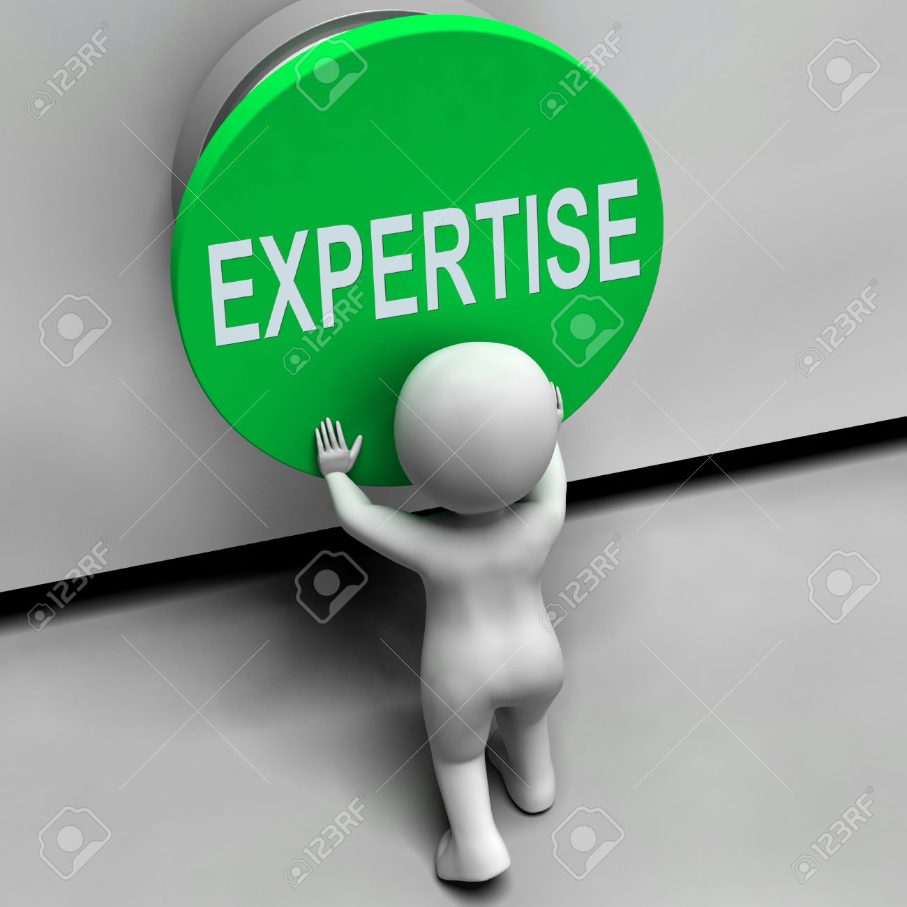 Expertise Button Meaning Skilled Specialist And Proficiency Stock.