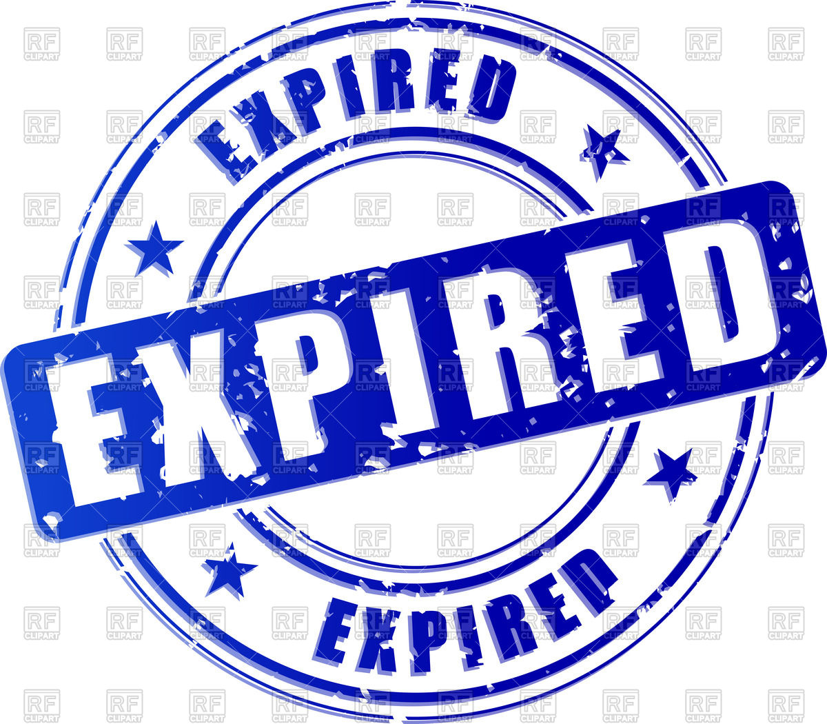 Blue stamp print with word Expired Vector Image #70633.