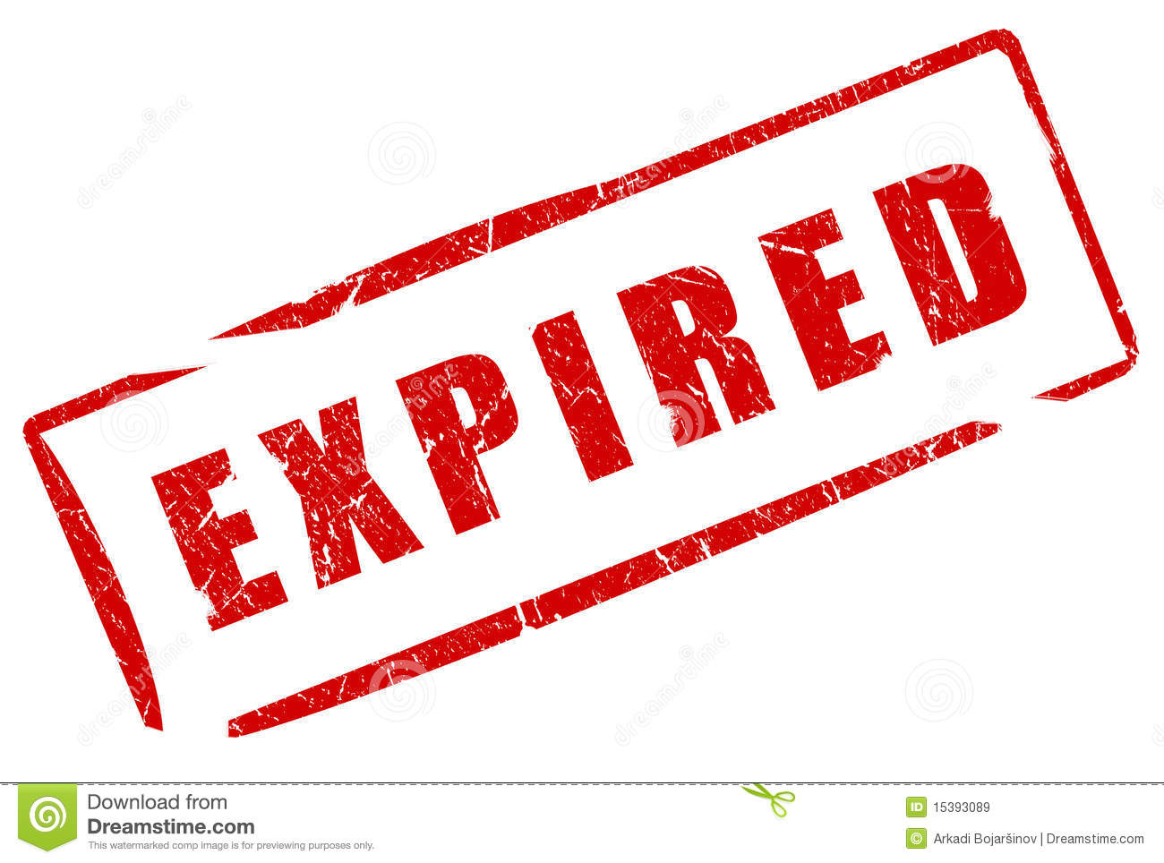 Expired Stamp Royalty Free Stock Images.