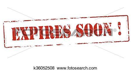 Clip Art of Expires soon k36052508.