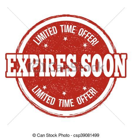 EPS Vectors of Expires soon stamp.