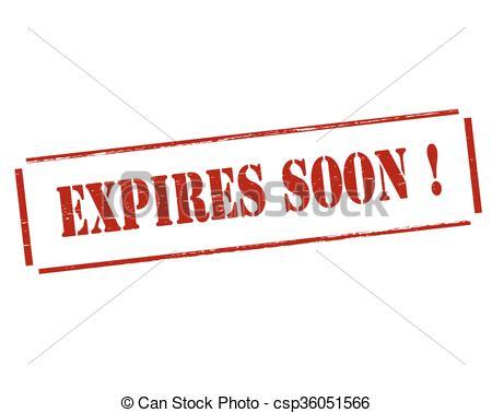 Clip Art Vector of Expires soon.