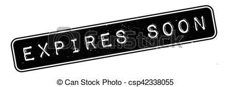Clipart Vector of Expires Soon rubber stamp. Grunge design with.