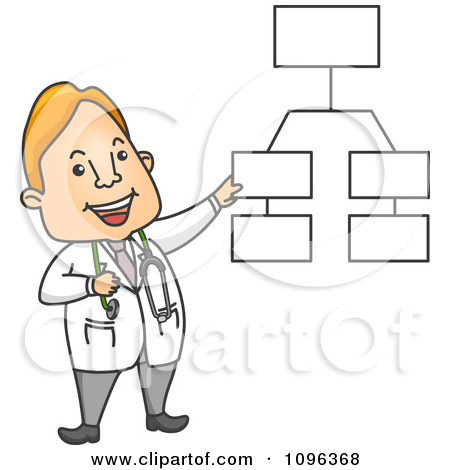 Clipart Male Doctor Explaining A Diagram.