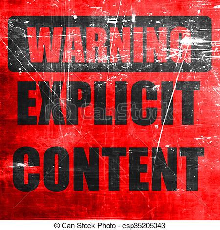 Explicit content sign.