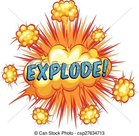 Vector Clip Art of Explode.
