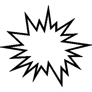 Star explode clipart.