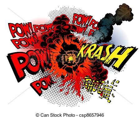 Clip Art Vector of explosion.