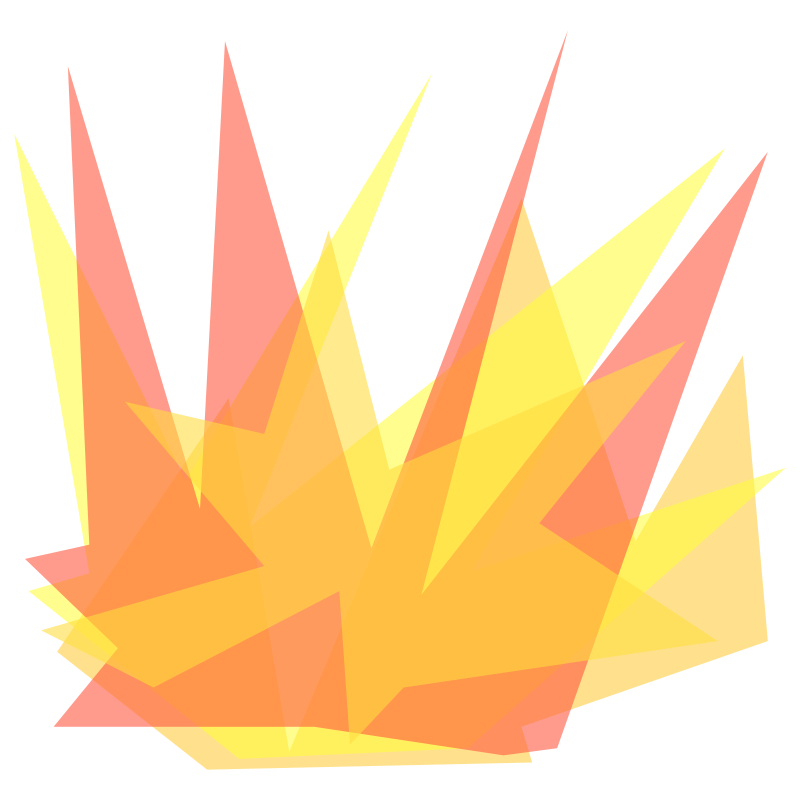Free Clipart: Simple Cartoon Explosion.