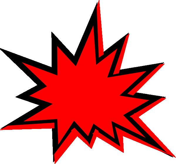 Explosion clip art free clipart 4.