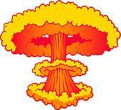 World exploding clipart.