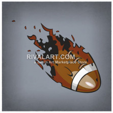 Flaming Football On Fire.