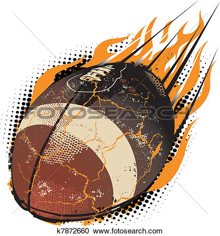 exploding football clipart #19