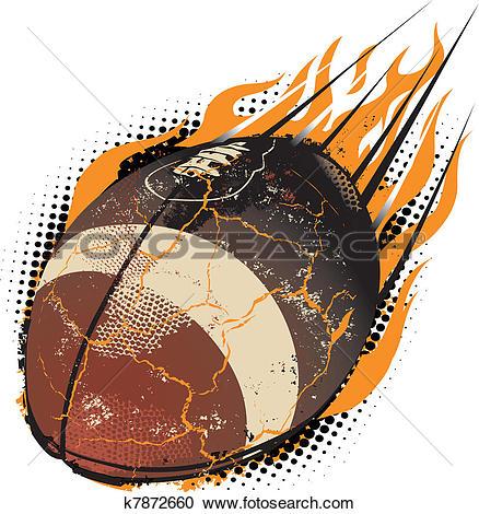 exploding football clipart #19