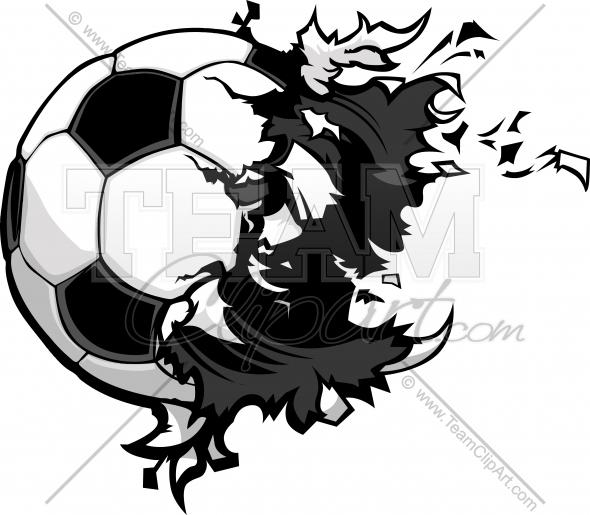 Exploding Football Clipart.