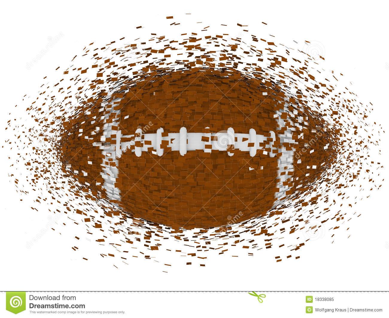 Explosion American Football Stock Illustrations.