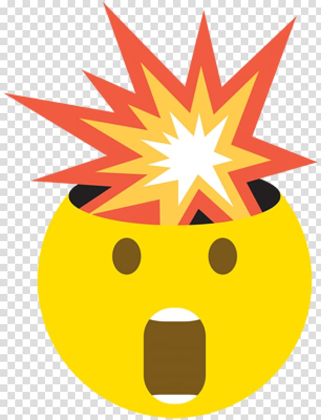 The Story of Emoji iPhone Sticker Mind, exploding head.