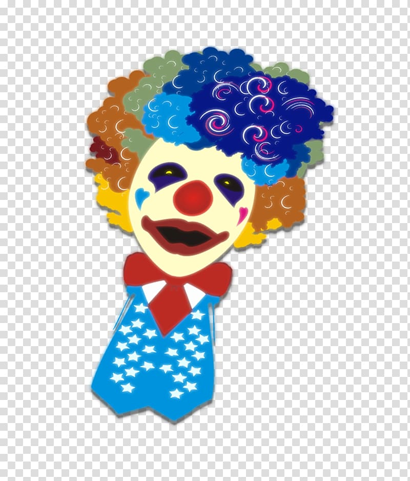 Clown April Fools Day Cartoon Poster, Exploding head clown.