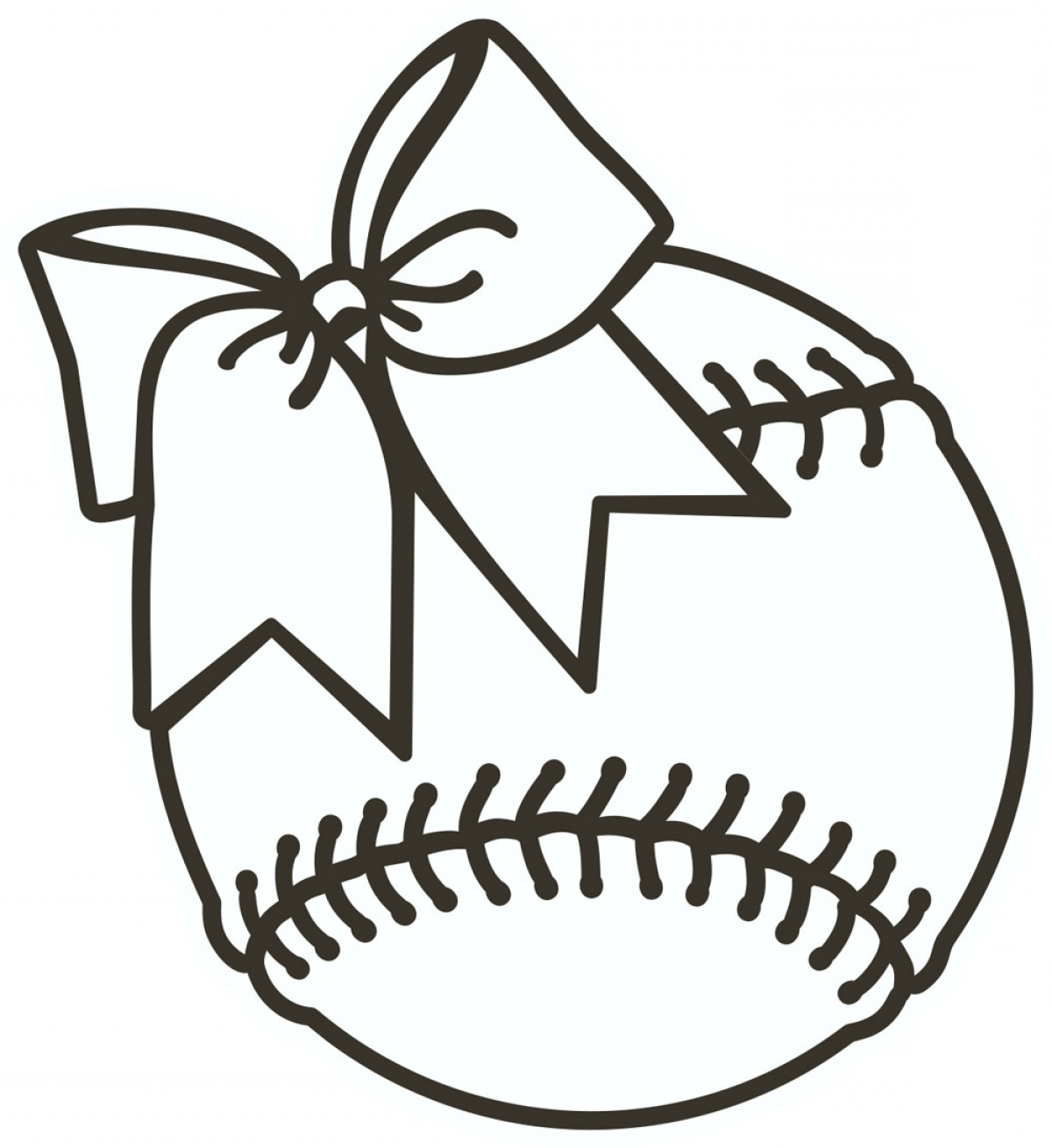 Softball Clipart Black And White Softball Clip Art.