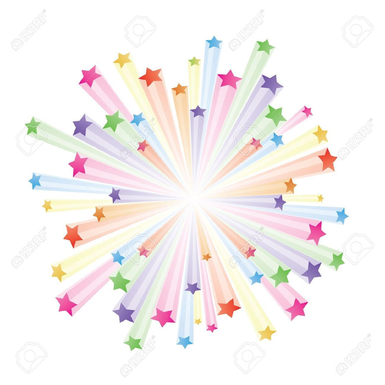 Explosion exploding star clipart 2.