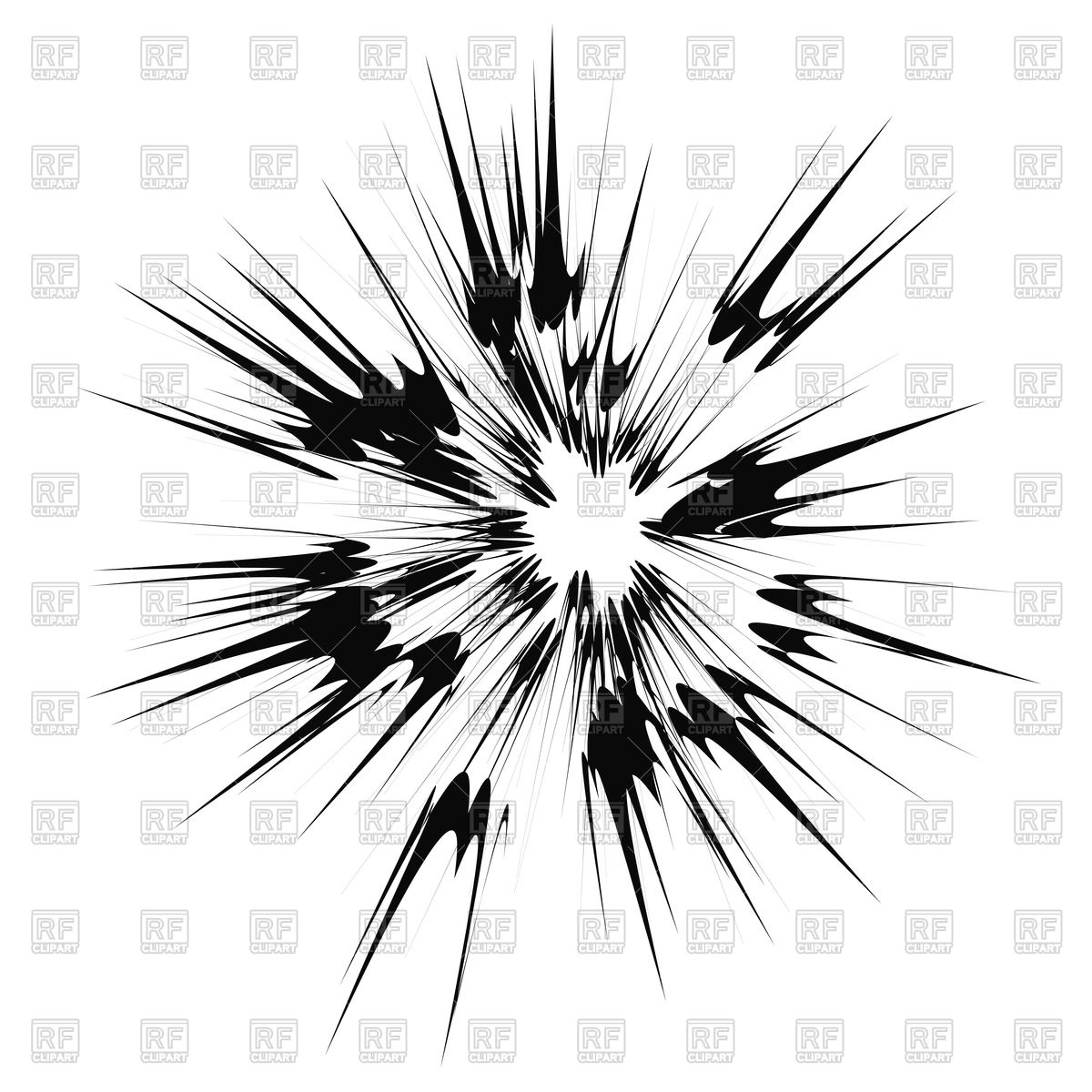Cartoon Explosion, Star Burst Stock Vector Image.