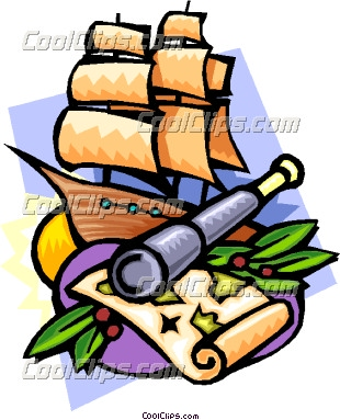 Age of exploration clipart.