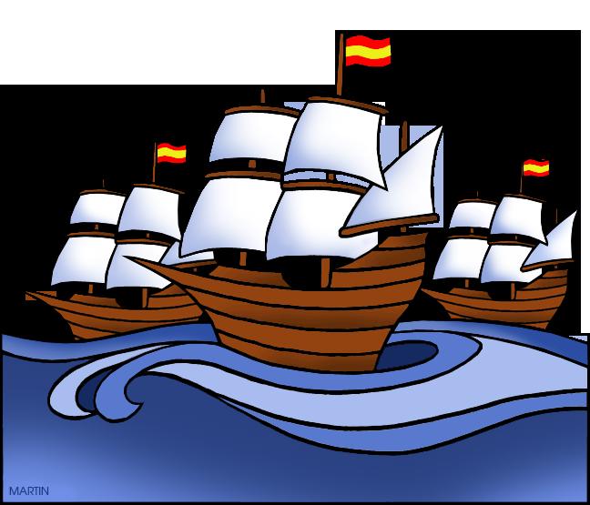 Explorers ships clipart.