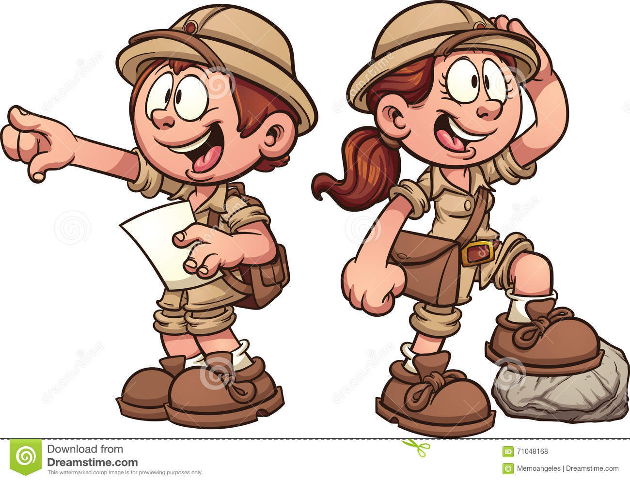 Kid explorer clip art.