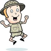 Cartoon Explorer Clipart.