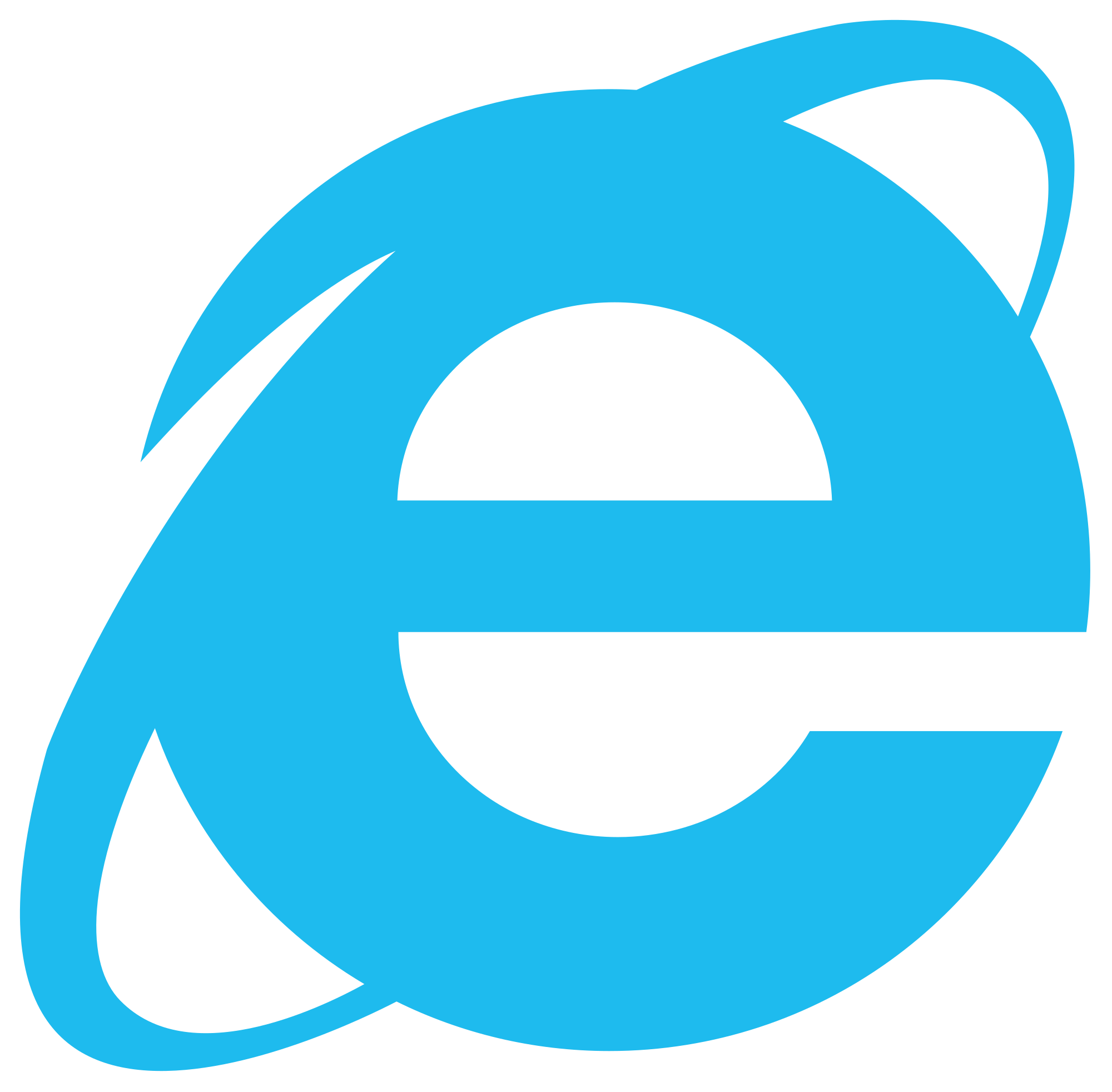Internet Explorer 10 11 Logo transparent PNG.